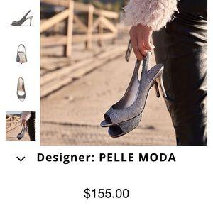Pelle Moda Vera Cuoio Silver Pumps Size:9M